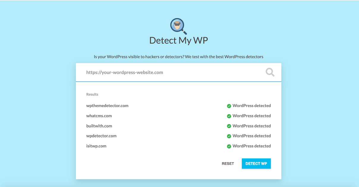 2 new free tools inside - Scan My WP and Detect My WP