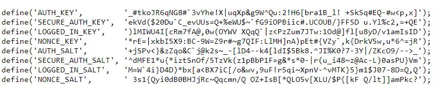 what are wordpress salts and security keys-wp salt generator